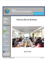 Tuesday Dialogue on Pakistan-Russia Relations