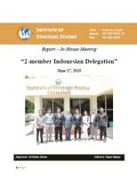 """Report – In-House Meeting with """"2-member Indonesian Delegation"""""""