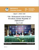 Report – Public Talk  Mr. Mohammad Ashraf Ghani, President, Islamic Republic of Afghanistan