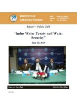 Report – Public Talk on Indus Water Treaty and Water Security