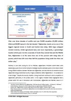 Issue Brief on Afghanistan and Regional Connectivity
