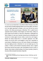 Issue Brief on BLA's Designation: A Sign of Improving Pak-US Relations