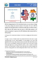 Issue Brief on US-India Trade Tensions