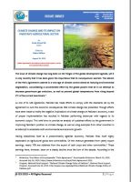 Issue Brief on Climate Change and Its Impact on Pakistans Agricultural Sector