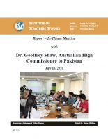Report – In-house meeting with Dr. Geoffrey Shaw, Australian High Commissioner to Pakistan