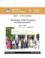"""Report – In-House Meeting with """"Delegation of the European Parliamentarians"""""""