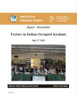 Report – Roundtable on Torture in Indian Occupied Kashmir