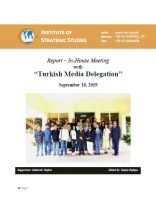 Report – In-House Meeting with Turkish Media Delegation