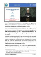 Issue Brief on Hope: Analyzing Iran's New Peace Initiative