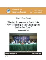 """Report – Book Launch on """"Nuclear Deterrence in South Asia: New Technologies and Challenges to Sustainable Peace"""""""
